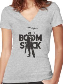 Boomstick Evil Dead Women's Fitted V-Neck T-Shirt