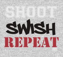 Shoot, Swish, Repeat One Piece - Short Sleeve