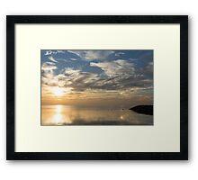 Blinding Bright Sunrise with a Sundog Framed Print