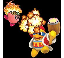 Kirby and King Dedede Photographic Print