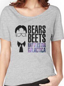 Dwight Schrute Bears, Beets, and Battlestar Galactica Women's Relaxed Fit T-Shirt
