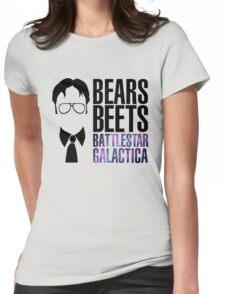 Dwight Schrute Bears, Beets, and Battlestar Galactica Womens Fitted T-Shirt