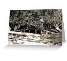 Train Tracks in the water | Greenwich Baths Greeting Card