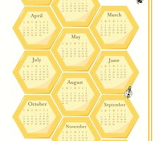 2015 Bees and Honeycomb Calendar by SVaeth