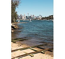 Train Tracks in the water | Greenwich Baths Photographic Print
