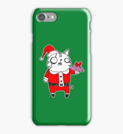 Zombie  Santa  Cat iPhone Case/Skin