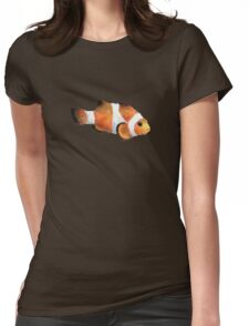 Grumpy Watercolor Clownfish Met while SCUBA Diving Womens Fitted T-Shirt