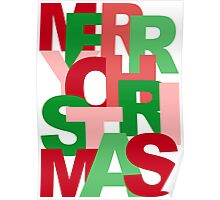 Christmas Colors Typography Poster