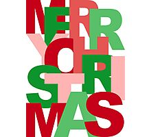 Christmas Colors Typography Photographic Print