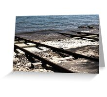 Train Tracks | Greenwich Baths Greeting Card
