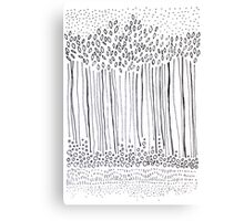 Tree line and seeds Canvas Print