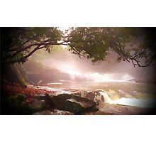 landscape waterfall lake river Photographic Print