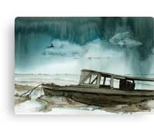 Storm over the Saltings Canvas Print