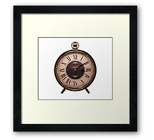 Old style clock Framed Print