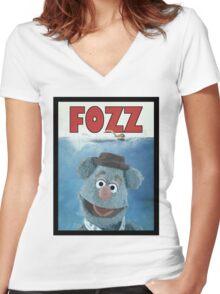 Fozz by Steven Spielberg Women's Fitted V-Neck T-Shirt