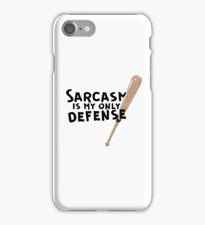 Sarcasm Is My Only Defense iPhone Case/Skin
