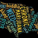 Marijuana Cannabis Weed United States USA Map by MarijuanaTshirt