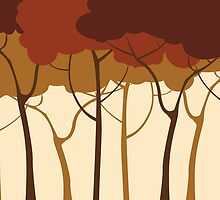 Sepia forest by Richard Laschon