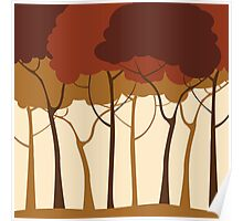 Sepia forest Poster