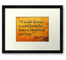 A Single Dream Framed Print