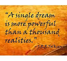 A Single Dream Photographic Print