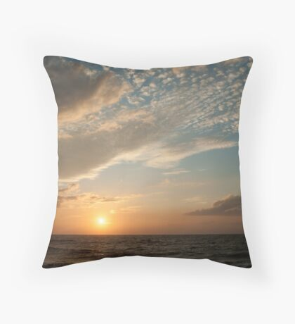 Negombo Sri Lanka  The sun sets spectacularely over the Indian Ocean.  Throw Pillow