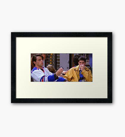 Ross Geller Joey Tribbiani Friends TV Show Framed Print