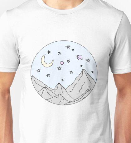 sky mountain scene Unisex T-Shirt