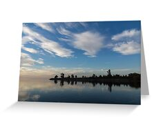 Blue and White Serenity - a Lakefront Stillness Greeting Card