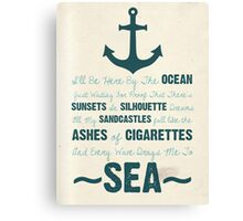 You Be The Anchor... Canvas Print