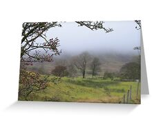 Pendle hill in the mist Greeting Card