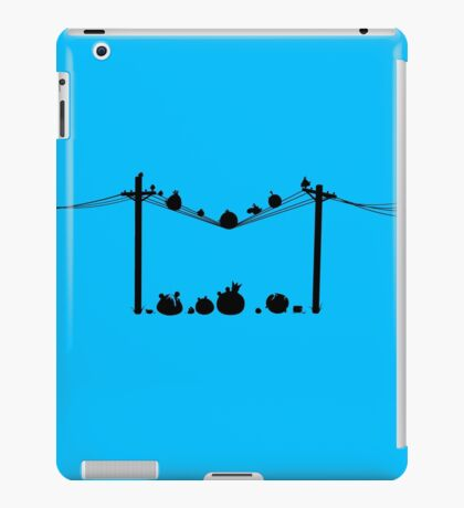 Angry Birds on a wire iPad Case/Skin