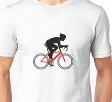 Cycling TShirt Cyclist with red bike Unisex T-Shirt