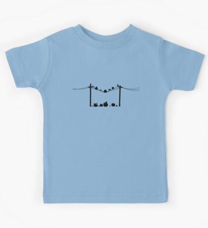 Angry Birds on a wire Kids Tee