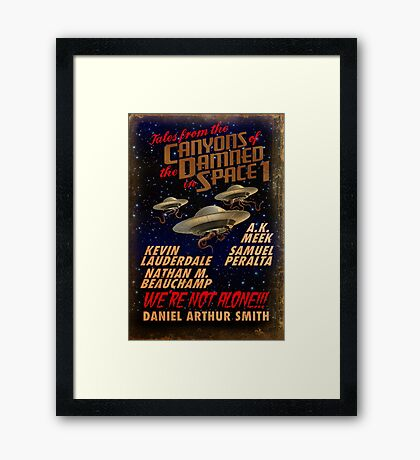 Tales from the Canyons of the Damned in Space Framed Print