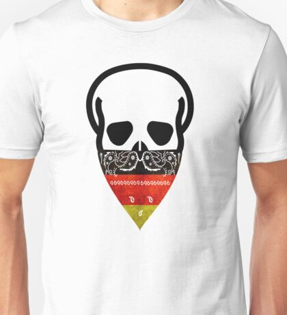 German Skull Gangster Unisex T-Shirt