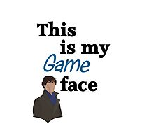 Game Face Photographic Print