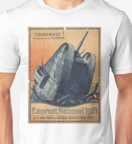 French Tank WWI Recruitment Poster Unisex T-Shirt