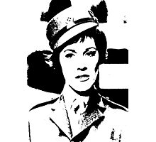 Julie Andrews In Uniform Photographic Print