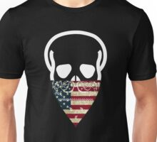 USA Skull Gangster Unisex T-Shirt