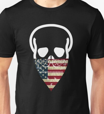 USA Skull Gangster Unisex T-Shirt