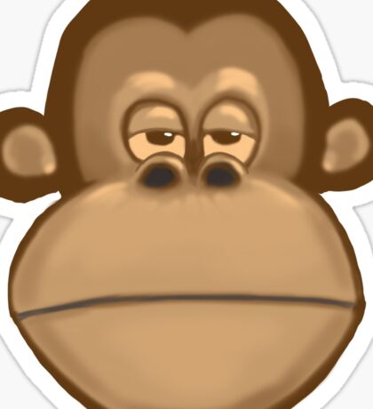 Meh Monkey Sticker