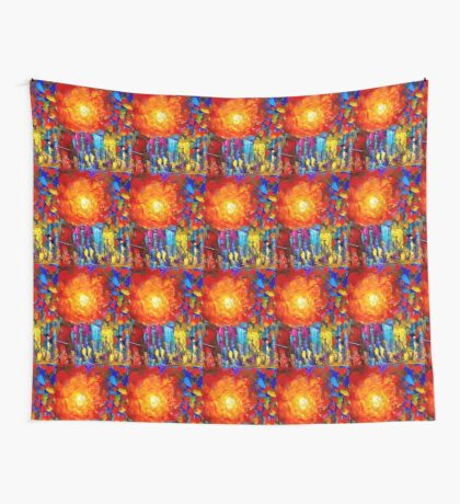 Funky Oil Colours Wall Tapestry