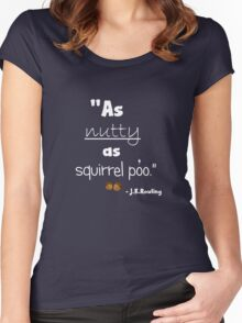 Nutty Poo dark Women's Fitted Scoop T-Shirt