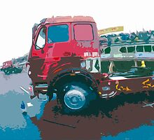 """Unique and rare 1980 Race Trucks France 15 (c) (t) """" fawn paint Picasso ! Olao-Olavia by Okaio Créations by Okaio - caillaud olivier"""