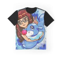 Mems and Popplio Graphic T-Shirt