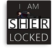 I am SHER-Locked  Canvas Print