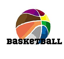 Colourful Basketball by WhiteN0ise