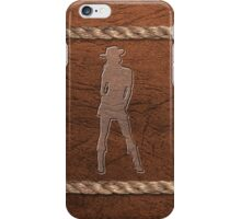 Western Theme - Cowgirl, Leather & Rope iPhone Case/Skin