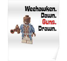 Weehawken Dawn Guns Drawn Brick Figure Graphic Poster